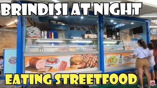BRINDISI Italy by Night - Amazing city | Eating StreetFood