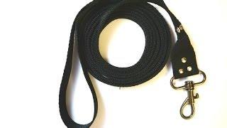 Поводок для собаки своими руками(Для того, чтобы сделать качественный и недорогой поводок вам понадобятся такие материалы: - карабин; - строп..., 2014-06-24T11:13:29.000Z)