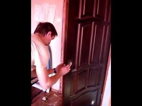 Установка дверей спб- Врезка