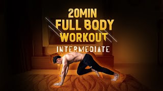 (New!) 20 Minute Fat Burning Workout - Level: Intermediate