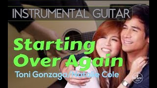 """Fresh off the """"studio"""" :) my instrumental acoustic guitar cover of toni gonzaga's hit song """"starting over again"""" originally sang by natalie cole from 1..."""