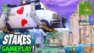 *NEW* HIGH STAKES GAMEPLAY! + GRAPPLING HOOK GAMEPLAY! FORTNITE BATTLE ROYALE (GETAWAY LTM GAMEPLAY)