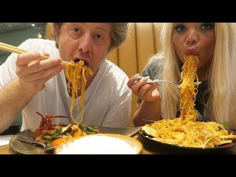 BEST NOODLES IN VEGAS MUKBANG! W/ MY BOYFRIEND | EPIC CHINESE FOOD EATING SHOW