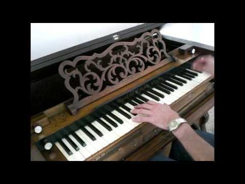 Early Burdett Harmonium Reed Organ. WOW!