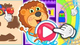 Львенок Котёнок – Играем в пазлы - Мультик для детей