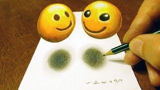 🙂APPLE VS SAMSUNG EMOJI - DRAWING 3D SMILING FACES FOR KIDS