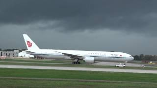 Air China Boeing 777-39L/ER (B-2085) Taxi Footage Inaugural Day 2015-09-29 YUL |  CYUL Montreal