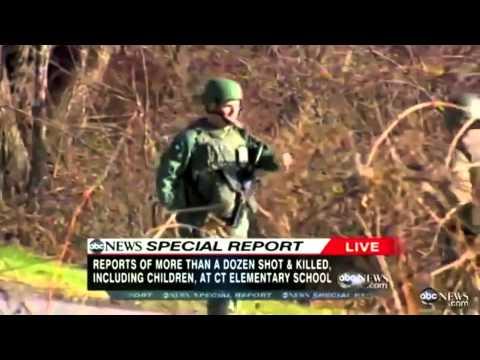Simon & Garfunkel  Silent Night  ABC News Newton, CT School Shooting