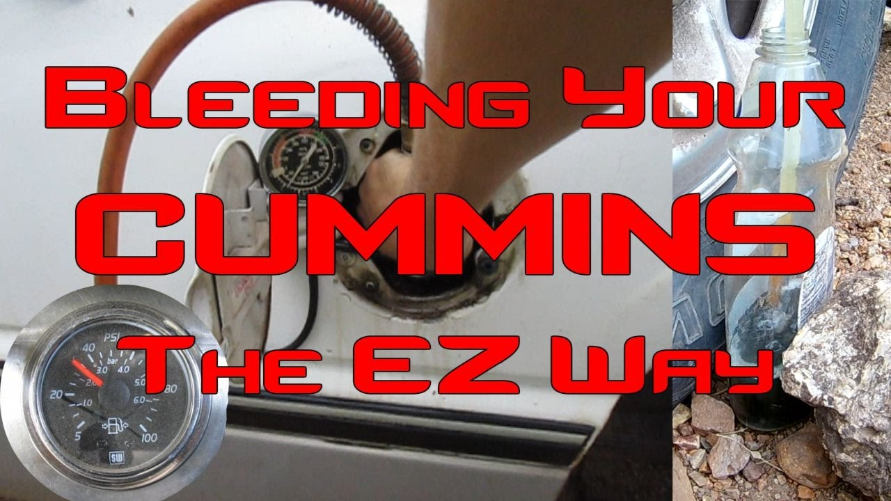 hight resolution of how to bleed your cummins fuel system