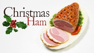 polymer clay Christmas Ham TUTORIAL