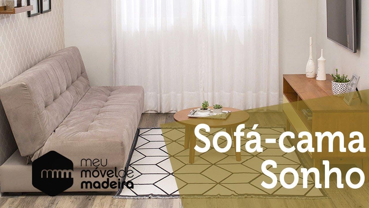 Conhe a o sof cama 3 lugares sonho da meu m vel de for Sofa que vira beliche