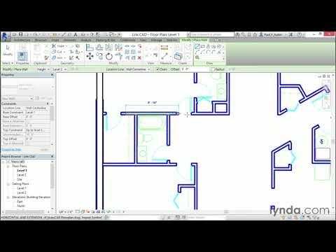 Revit 2015 Tutorial: Linking AutoCAD DWG Files | Lynda.com