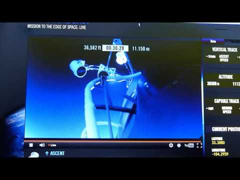 Mission To The Edge Of Space Felix Baumgartner Red Bull 2012- from the start-