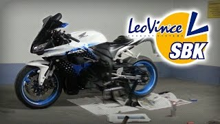 honda cbr 600 rr 09 limited edition   leovince sbk evo 2   with without silencer
