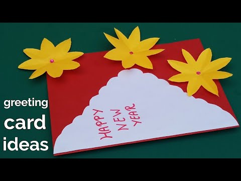 Happy New year greeting cards tutorial | greeting card ...