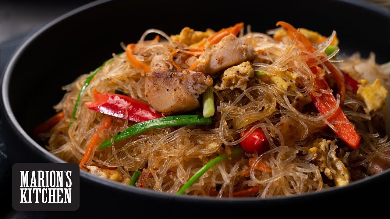 Thai Stir Fried Glass Noodles Marion S Kitchen Youtube