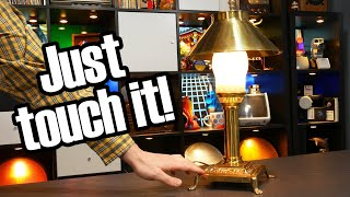 The touch lamp; a neat idea, and older than you'd think!