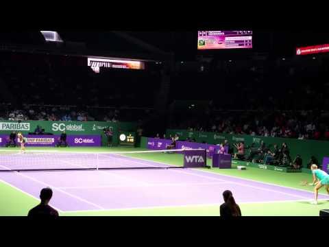 Petra Kvitova vs Angelique Kerber   2013 TEB BNP Paribas WTA Championships- Istanbul Highlights from YouTube · Duration:  3 minutes 22 seconds