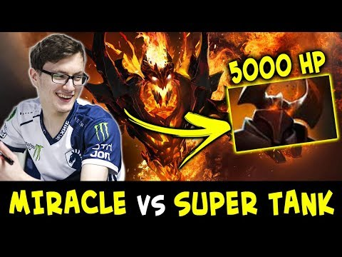 Miracle vs super TANK Chaos Knight — 5000 HP won't save you