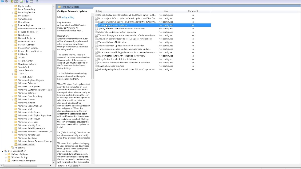 disable windows updates windows 10 pro
