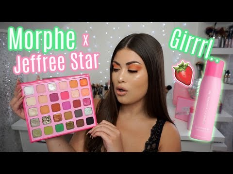 JEFFREE STAR x MORPHE Collection! 🍓Swatches, Tutorial & The Tea! thumbnail