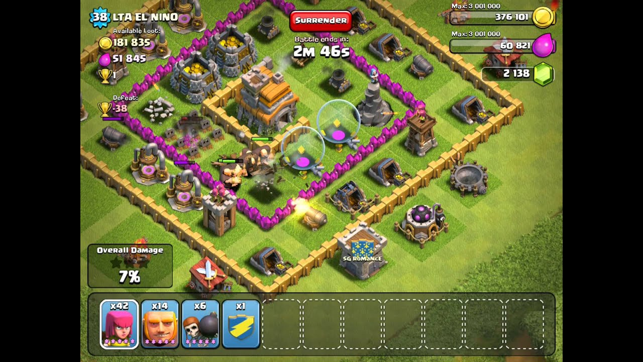 Bad Setup Clash Of Clans Very Very Bad Defence Setup Youtube