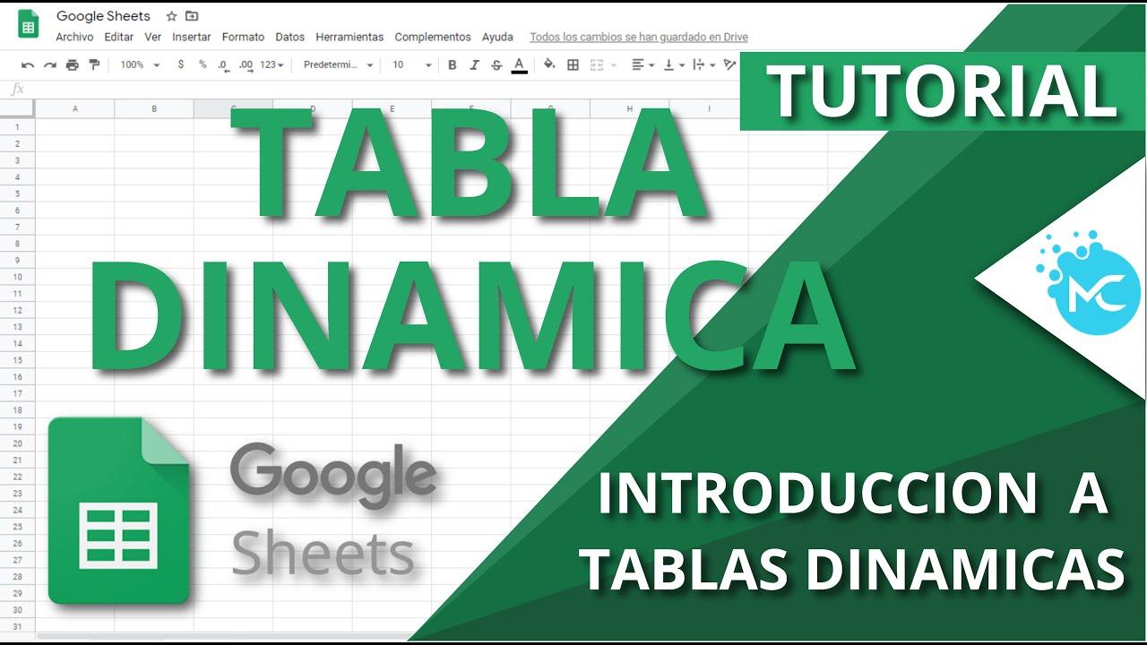 Download Google Sheets - Como Hacer Una Tabla Dinamica