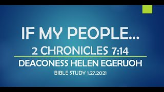 IF MY PEOPLE... 2 CHRONICLES 7:14