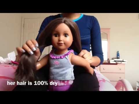 How To Straighten Doll Hair Without Heat!