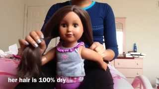 How To Straighten Doll Hair Without Heat! Thumbnail