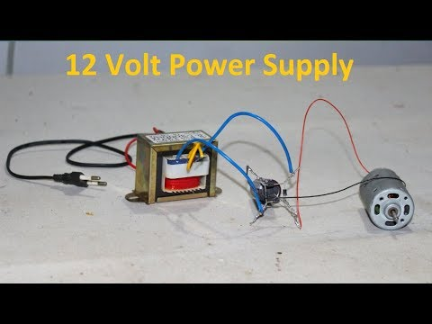 how to Build 12 volt power supply or adaptor at home by using ac transformer