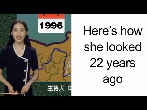 Chinese Weather Woman Stuns The World With Her Youthful Looks After 22 Years On Screen