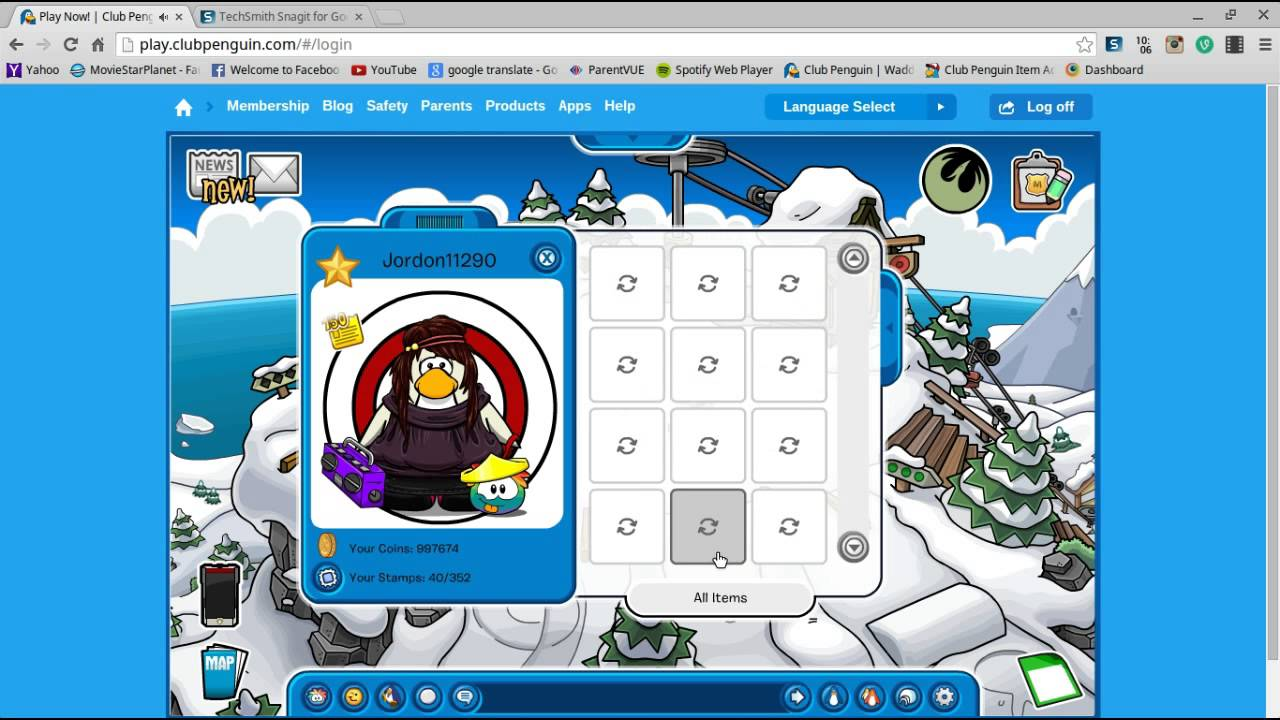 CLUB PENGUIN FREE ACCOUNT GIVEAWAY!!! NO TRADING NECESSARY!!~OPEN~ - YouTube