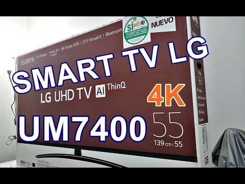 SMART TV LG UM7400: UNBOXING PRIMERAS IMPRESIONES 2020