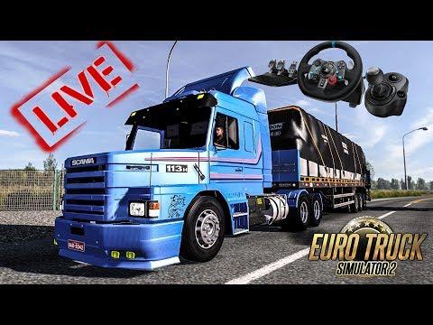 🔴►Live Euro Truck Simulator 2(1.30)MAPA ESTRADAS DO BRASIL#COM VOLANTE G29🔴►
