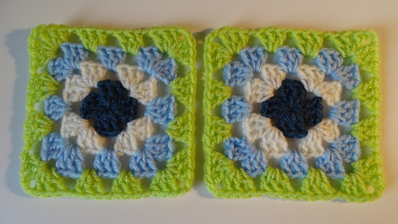 Traditionele Granny Square Haken