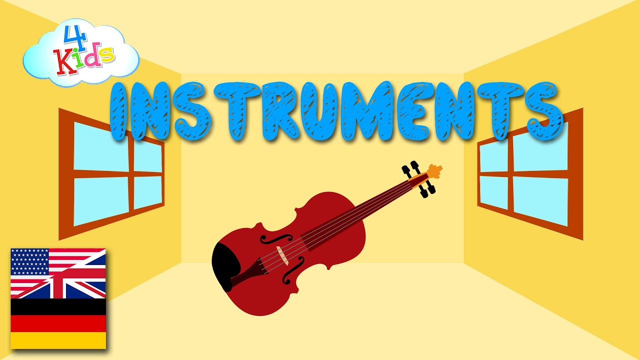 Bilingual Musical Instruments Learning Video for Children and