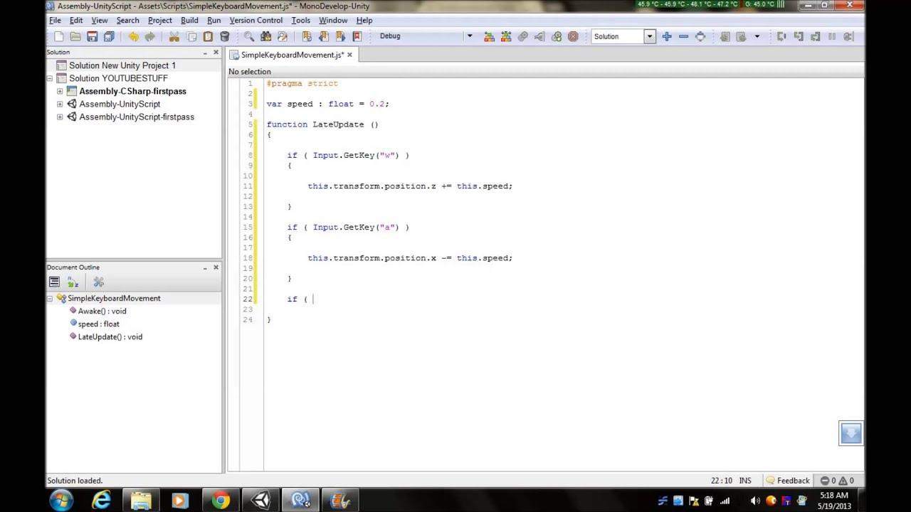 Javascripts - Unity3d Simple Keyboard Movement Javascript