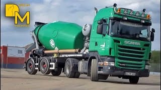 GIANT CONCRETE PUMP TRUCK PUTZMEISTER PAVING cement mixer