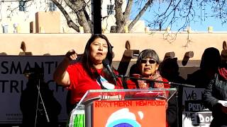 WOMEN'S MARCH SANTA FE  2019 – SANTA FE PLAZA –  Corrine Sanchez - Tewa Women United