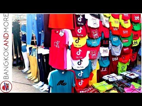 Bobae Market Bangkok Thailand @ 7am - Cheap Clothes Shopping
