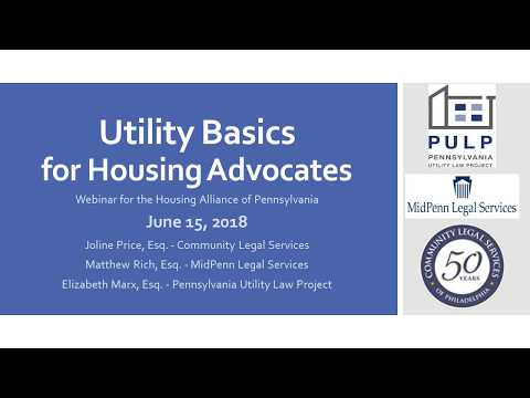 Utility Basics for Housing Advocates