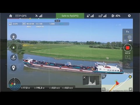 Inspire1 scenic videofootage over Zutphen and river IJssel in The Netherlands