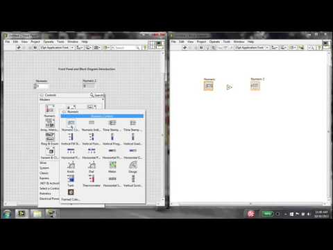 Labview Front Panel And Block Diagram Introduction Youtube