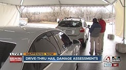 State Farm does drive-thru hail damage assessments