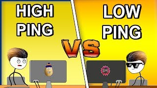 High Ping Gamer Vs Low Ping Gamer