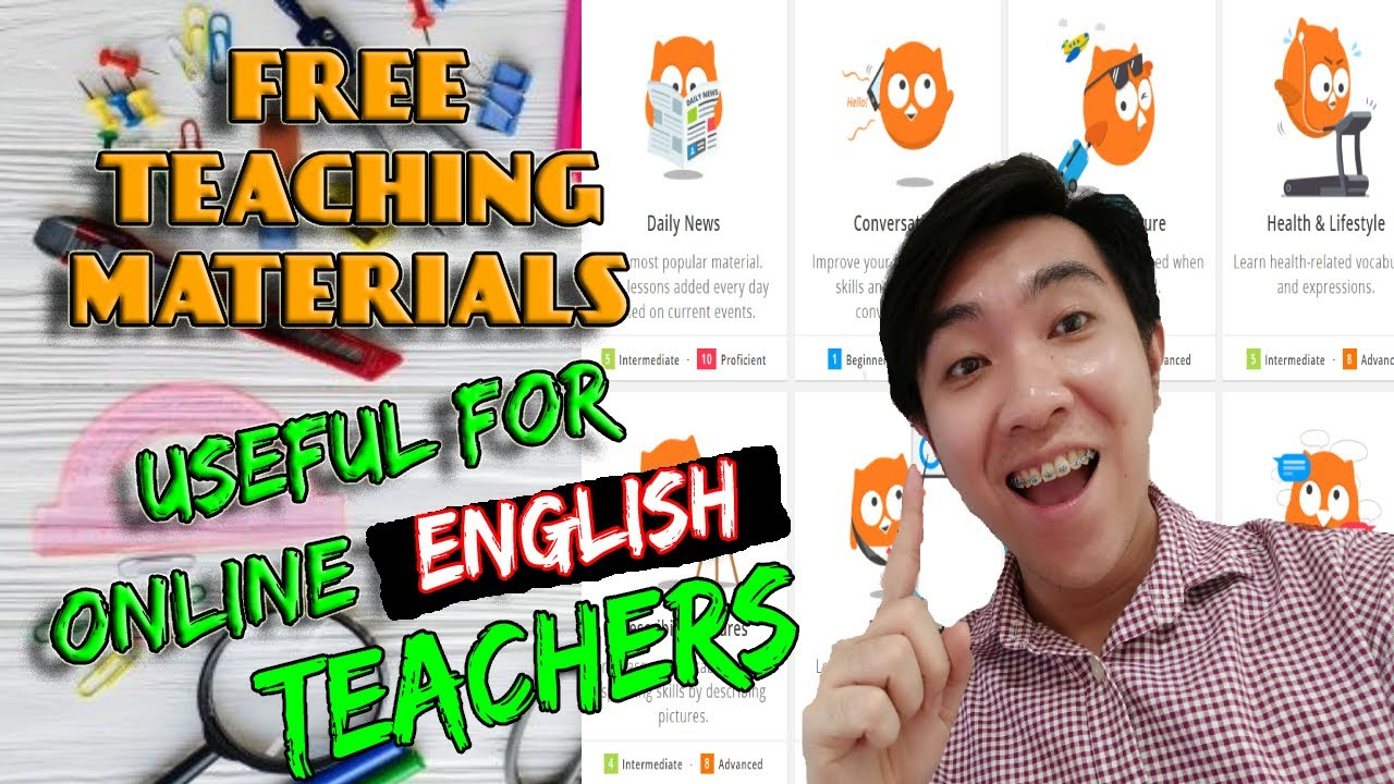 FREE TEACHING MATERIALS FOR ONLINE ENGLISH TEACHERS 2021 USEFUL AND EFFECTIVE