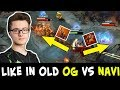 Like in old OG vs NaVi — Miracle Lion, never GG before Ancient explode