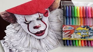 PENNYWISE PEN DRAWING (IT 2017) | DeMoose Art