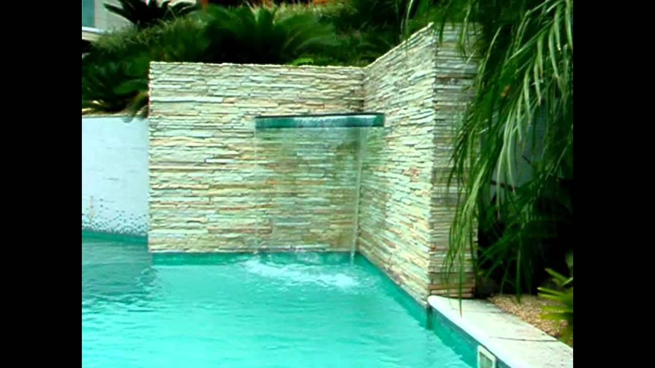 Cortina de gua em cascatab de piscina e youtube for Construccion de piletas de agua